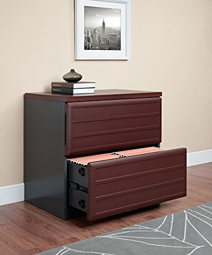 Ameriwood Home Pursuit Lateral File Cabinet, Cherry by Altra Furniture (Image #3)