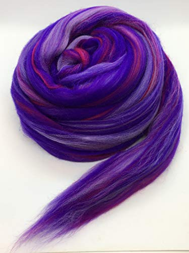 Shep's Wild Berry Merino Wool Top Roving Fiber Spinning, Felting Crafts USA -