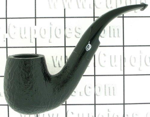 Davidoff Pipe - Shape 109, Classic Bent, Black Sandblasted