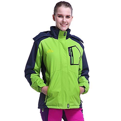 - UONQD Women's Winter Outdoor Cashmere Thickening Zipper Hoodie Sport Outdoor Coat(X-Large,Green)