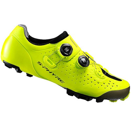 SHIMANO SHXC9OC370SYZ0 - Zapatillas ciclismo, 37, Amarillo, Unisex