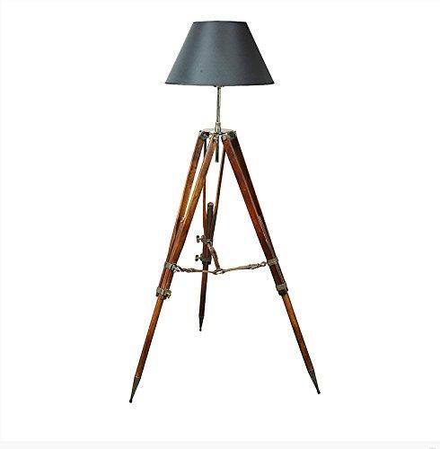 Park Avenue Collection Campaign Tripod Lamp, Black Shade