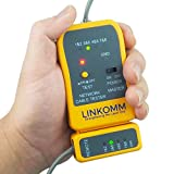 LINKOMM RJ45, RJ11, RJ12 Telephone and Ethernet Network LAN Cable Tester, Yellow