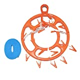 E2shop Plastic Clip & Drip Laundry Clothes Houshold Round 18 Clips Socks for Underwear, Lingerie, Bra, Kids Baby Clothes, Diapers, Towel, Hat, Scarf, Gloves Inoutdoorkit Drying Rack Hanger (Orange)