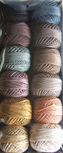 (Valdani Perle Cotton Size 12 Thread Moon Garden Briar Root)