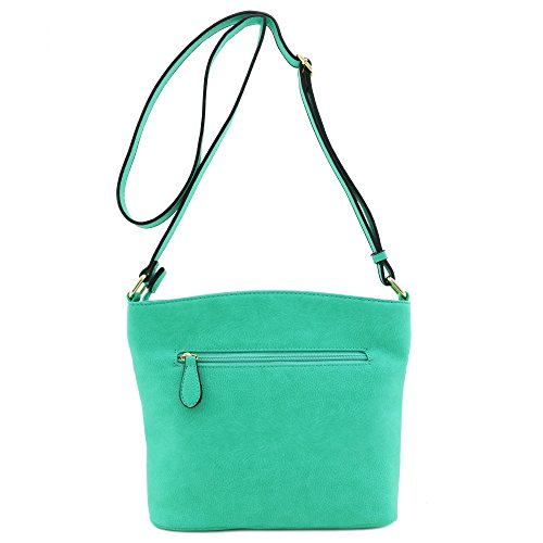 Medium Mint Bag Crossbody Triple Zipper Pocket XaawqxSET