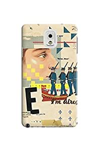 LarryToliver Customizable samsung note 3 Case, Best Durable Plastic retro style collage design pictures samsung note 3 Case #2