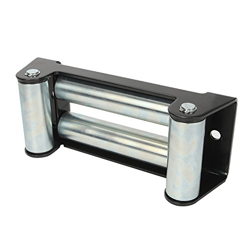 AUXMART Winch Roller Fairlead for Steel Cable 10″ Bolt Pattern