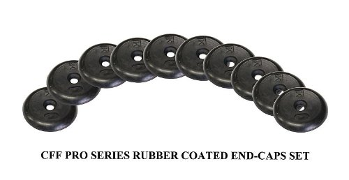 CFF 10 Pack Pro Style Dumbbell Rubber End Cap by CFF-FIT