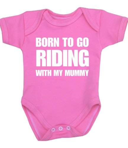 BabyPrem Born to go Riding with Mummy Baby Clothes Bodysuit (Mth Clothing)