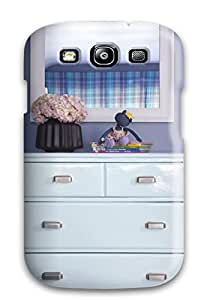 ZippyDoritEduard Case Cover Protector Specially Made For Galaxy S3 Eclectic Ice Blue Dresser 038 White Mirror In Blue Bedroom