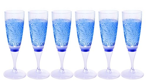 FAMI Champagne Flutes Champagne Glasses LED Light Wine
