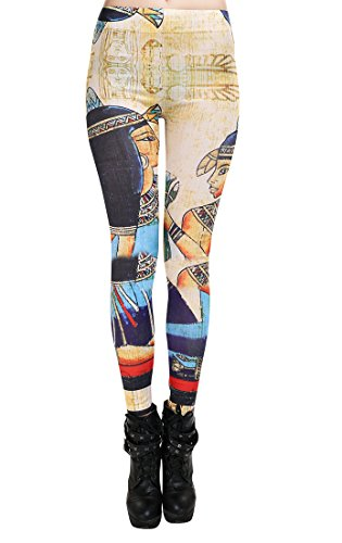 CoolBiz Women's Egyptian Girl Print Legging Multicoloured One Size (Egyptian Girl Sexy)