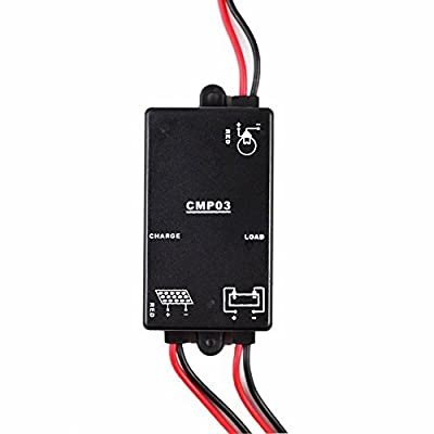 CMP03 3A-6V-S Load on in the Night Solar Charge Controller PV Battery Regulator with Light Control for Solar Led Lighting System