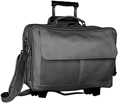 Wheeled Briefcase Black David King /& Co One Size