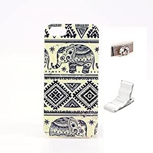 DUR Elephants Design Durable TPU Cover Case and Mini Display Stand with Diamond Dust Plug for iphone 5/5S
