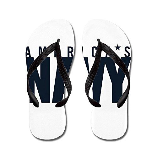 Emblema De La Marina De Guerra De Cafepress Américas - Chanclas, Sandalias De Correa Divertidas, Sandalias De Playa Negras