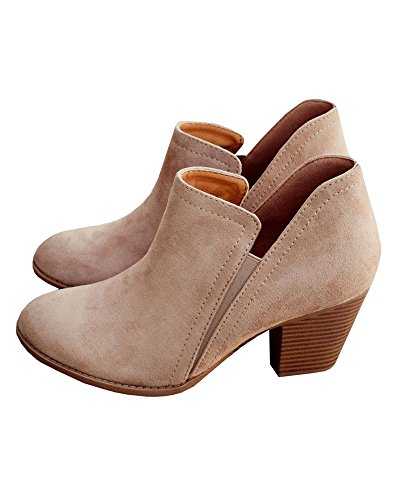Women's Ankle Cowboy Boots Low Heels Pointed Toe Booties