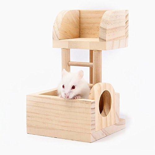 Pet Online Hamster escalera hamster juguete cerca de madera villa mascotas suministros: Amazon.es: Productos para mascotas