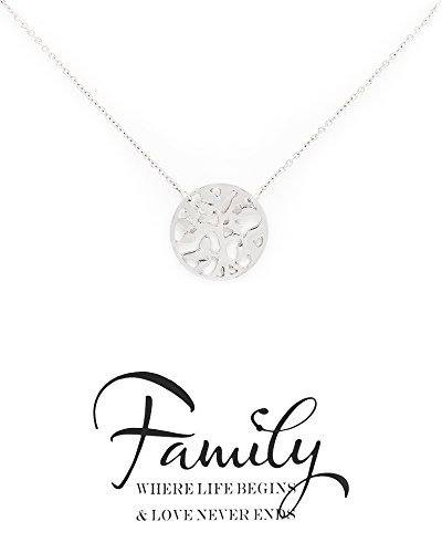 Zealmer-Family-Tree-Necklace-Four-Leaf-Clover-Friendship-Double-Link-Infinity-Necklace-with-Message-Card