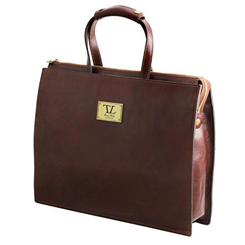 Leather Honey compartments woman Leather for briefcase 3 Tuscany Palermo Black HA1qxn66