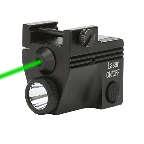 XYHlaser Tactical Compact Pistol Green Laser Sight Handgun Flashlight Strobe Light Combo 2HY06 20mm Picatinny Rail Mount Rechargeable Adjustable for Air Soft gun Shotguns Rifle by XYHlaser