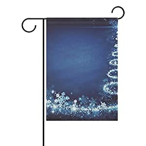 jstel casa árbol de Navidad tela de poliéster jardín banderas Lovely y resistente al moho Custom de resistente al agua 28x 40inch