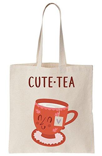 Cute Canvas Tote Tea Cute Tea Of Bag Cup F8UFvqw7r