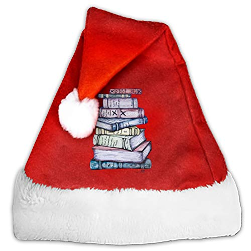 Kids Adults Christmas Hat A Large Stack of Brooks Santa Claus Reindeer Snowman Xmas Gifts Cap ()