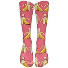 Apeeling Vegan Banana Athletic Socks Knee High Socks For Men&Women Sport Long Sock Tube Knee High Stockings Christmas Socks