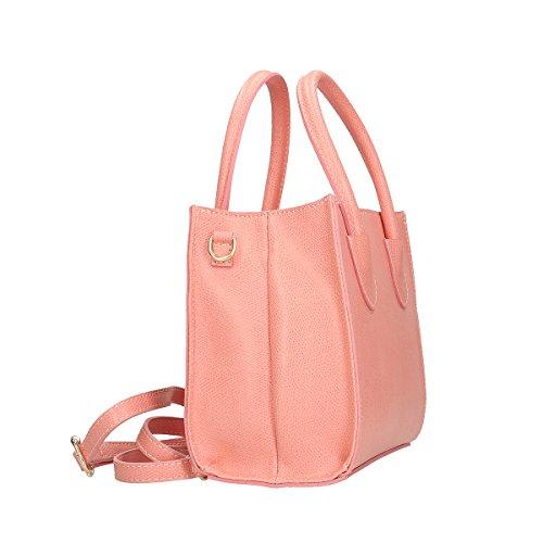 Chicca Borse Handtasche aus echtem italienischem Leder 20x19x10 Cm Rosa