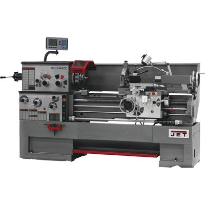 GH-1440ZX 14-Inch Swing by 40-Inch between Centers 230/460-Volt 3 Phase Large Spindle Bore Metalworking Lathe - JET 321910