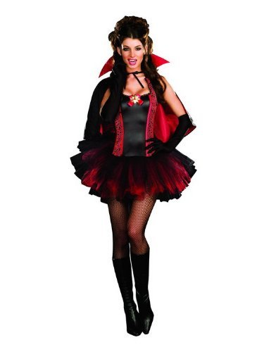 Dreamgirl Women's Love At First Bite Costume Red/Black Small (Love Bite Vampire Costume)