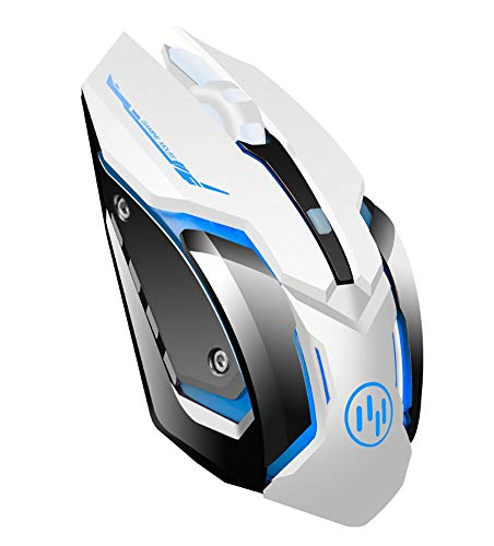 Wireless Mouse for Laptop, Scettar Computer Gaming Mouse Unique Silent Click, 7 Breathing Led Light, 3 Adjustable DPI,Iron Plate, Power Saving Mode for Laptop/PC/Notebook