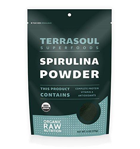 Terrasoul Superfoods Spirulina Powder (Organic), 6 Ounce