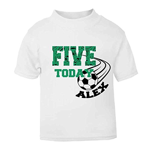 Personalised Five Today Football Birthday T Shirt Fifth Top Childrens Custom Boys