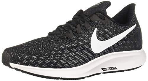 Nike Women's Air Zoom Pegasus 35 Running Shoe Wide Black/White/Gunsmoke/Oil Grey Size 7.5 Wide US (Best Nikes For Long Distance Running)