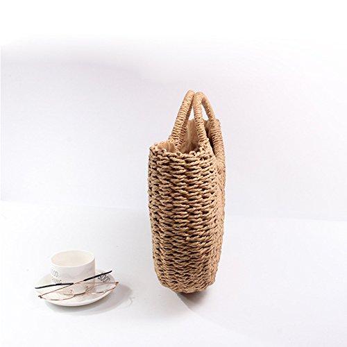 Femme Beige EROUGEStraw à Sacs bags main xWwqPa80zA