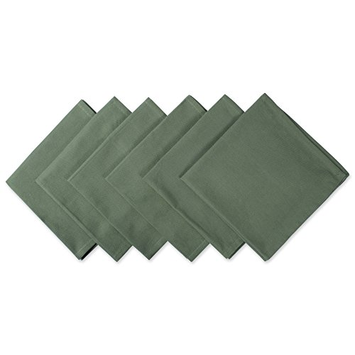 DII 100% Cotton Cloth Napkins, Oversized 20x20 Dinner Napkins, For Basic Everyday Use, Banquets, Weddings, Events, or Family Gatherings - Set of 6, Sage (Green Dinner Olive Plate)