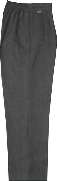 Pantalones de uniforme escolar para ni/ños con cintura el/ástica color gris y negro