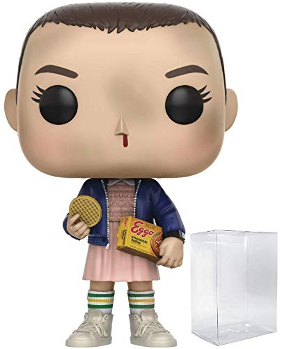 Funko Stranger Things - Eleven with Eggos Pop! Vinyl Figure (Includes Compatible Pop Box Protector Case)