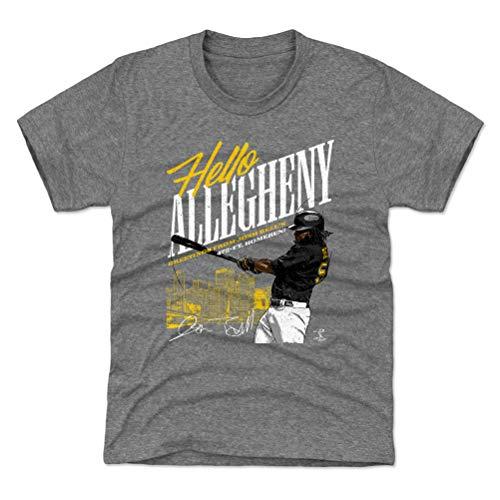 (500 LEVEL Josh Bell Pittsburgh Baseball Youth Shirt (Kids Small (6-7Y), Tri Gray) - Josh Bell Allegheny Y WHT )