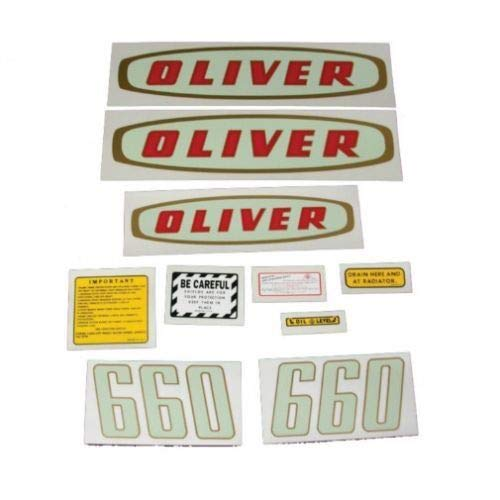 Tractor Decal Set, Oliver 660 Early, Mylar