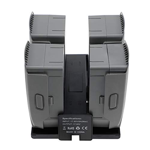 Accessories for DJI Mavic 2 Pro/Zoom, 4 in 1 Battery Charger Sequential Smart Multi Battery Intelligent Charging Hub with Charge Indicator LCD Display