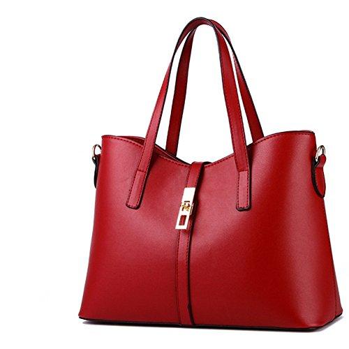 Main NEW Sac Cuir Femme Sac rouge main tote porté vineuserouge 2018 Sac AVERIL Cabas Sac à G wUES00
