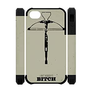 The walking dead iphone 4 4s case, zombie iphone 4 4s case, the walking dead cartoon iphone 4 4s case by icecream design