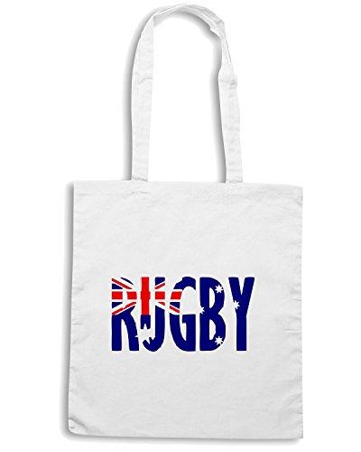 T-Shirtshock - Bolsa para la compra TRUG0003 australia rugby fitted logo Blanco