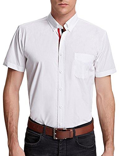 PAUL JONES® Mens Short Sleeve Slim Fit Casual Shirts PJ5542