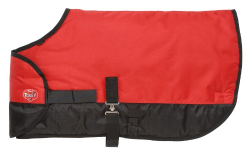 - Tough 1 600D Waterproof Poly Adjustable Foal Blanket, Red, Large