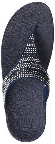 Fitflop Womens Strobe Luxe Toe-thong Sandal Midnatt Marinen